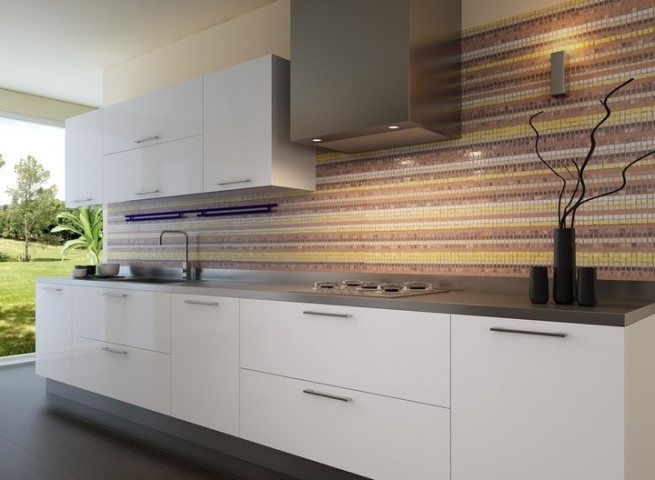 Ristrutturazione bagni d 39 autore ristrutturazione cucine - Rivestimento cucina bianca ...
