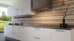 Cucina laccata bianca ed acciaio